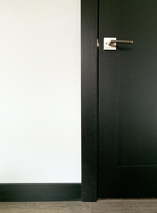 Modern Black Baseboard